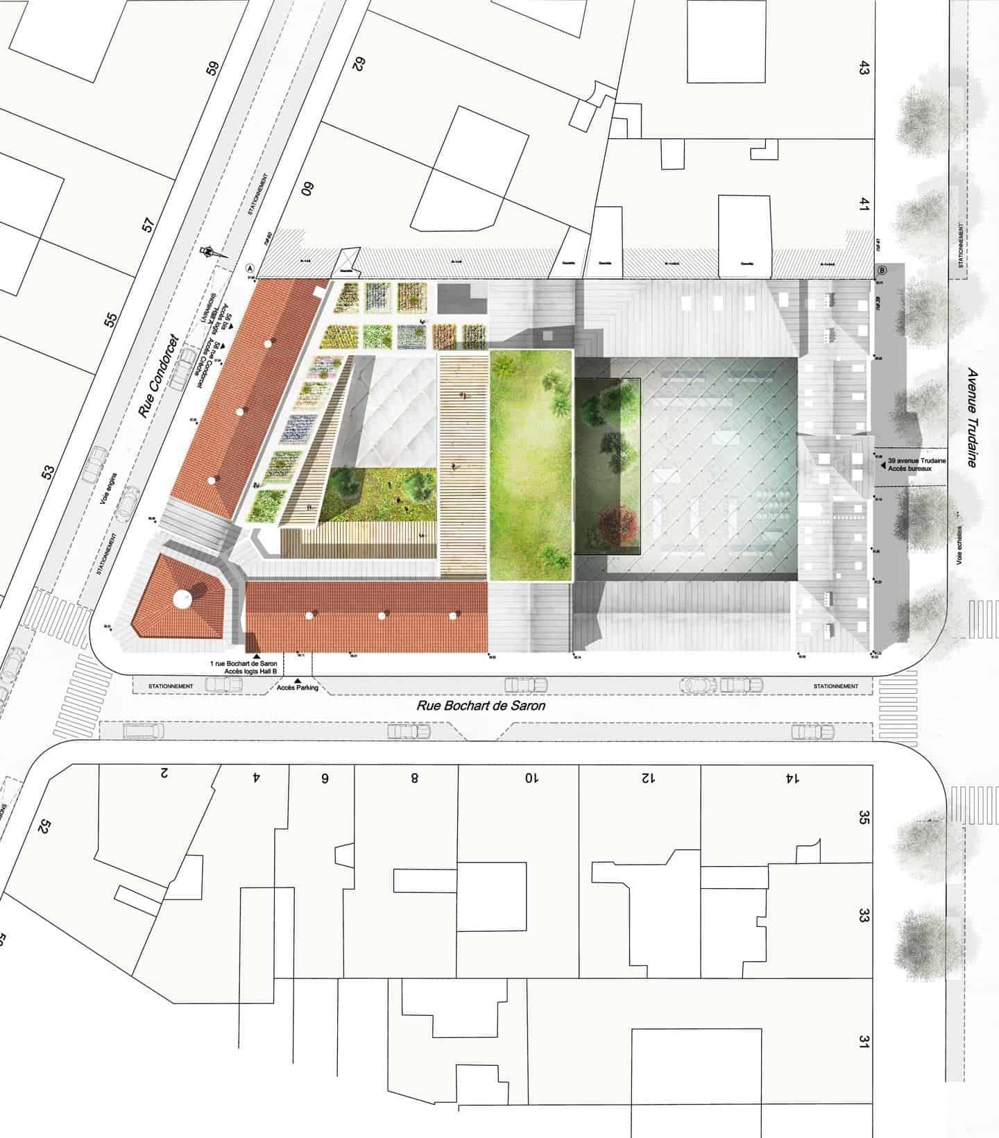 Trudaine, bureaux, logements et crèche - DVVD