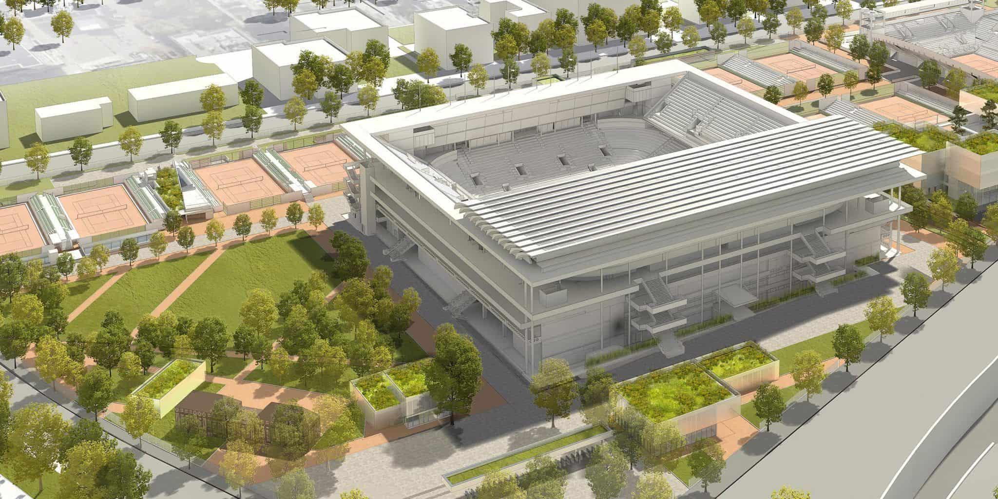 Court central Roland Garros - DVVD
