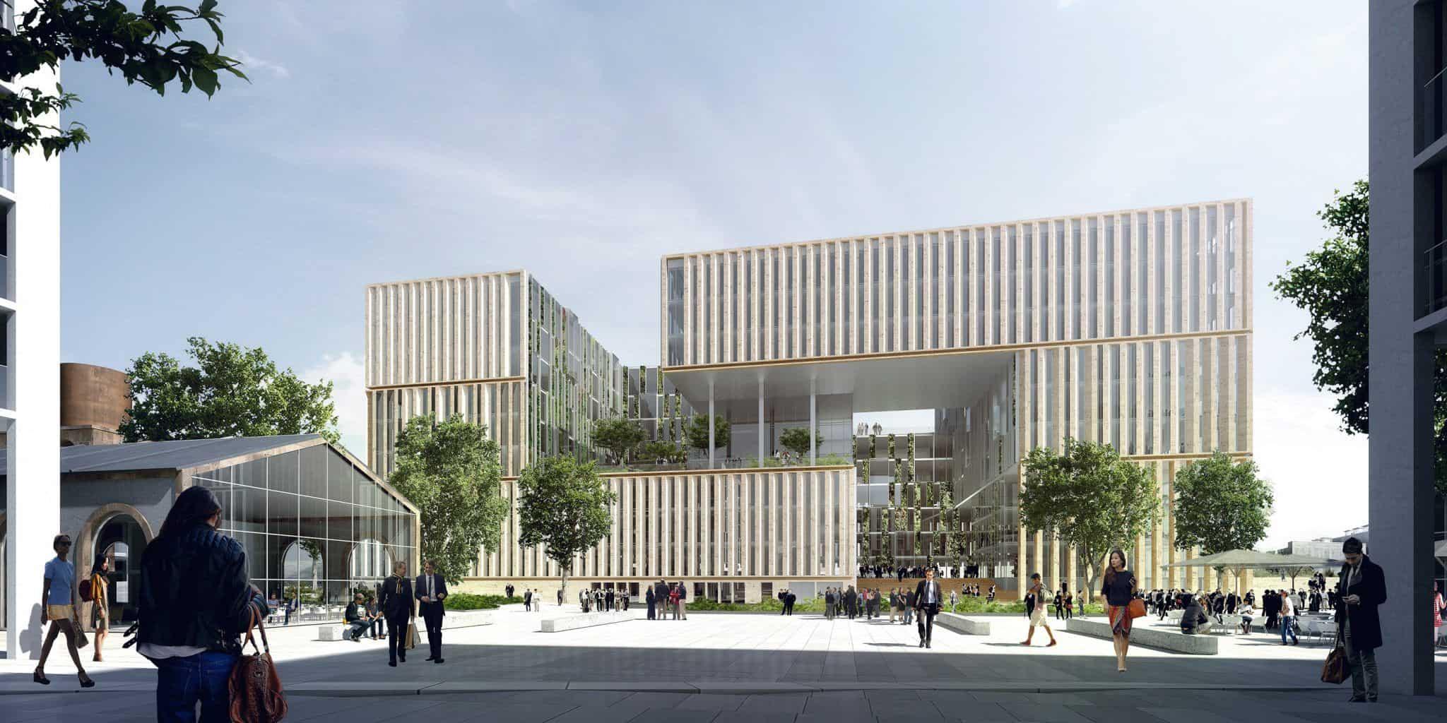 Immeuble de bureaux secteur Amédée Saint Germain, Bordeaux - DVVD