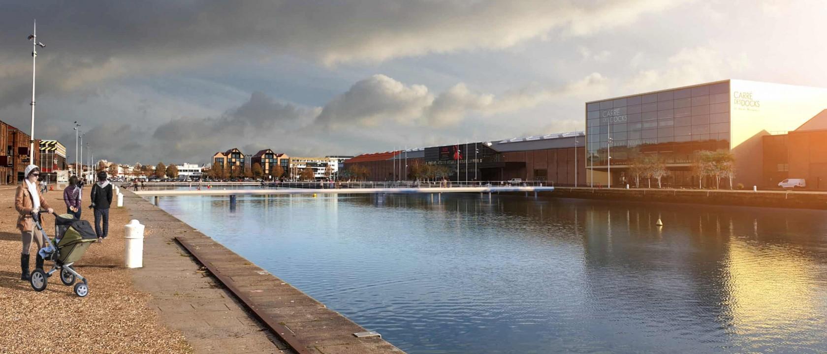 Passerelle mobile de bassin Paul Vatine – Le Havre