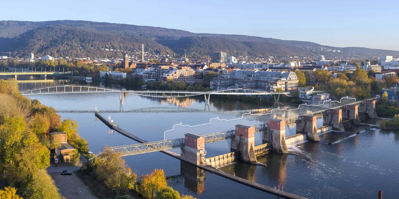 Passerelle au-dessus de la Neckar - DVVD