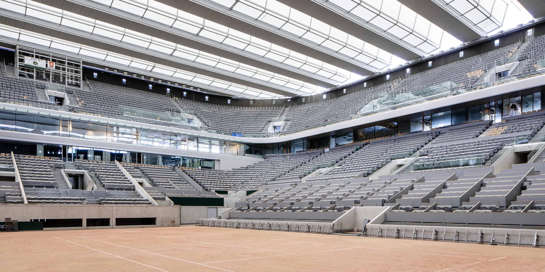 Toit mobile du court Central de Roland-Garros - DVVD